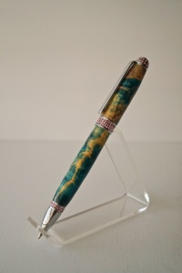 Bling - Clear Crystals blue and green box elder