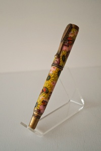 George Rollerball Pen - Floral Polymer clay (Sunflowers)