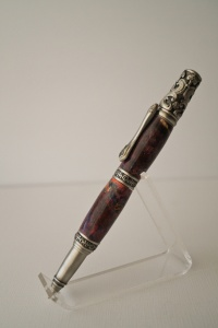 Victorian Ball Point - Purple Dyed maple burl