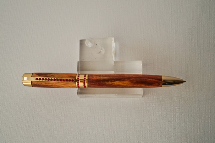 Princess Pen - Red dyed Box Elder - Click Image to Close